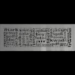 kratki ozdobne Kratka ABC szlifowana 17x49