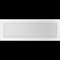Kratki prostokątne Kratka biała z żaluzją 17x49