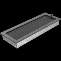 Kratki prostokątne Kratka czarno-srebrna z żaluzją 17x49