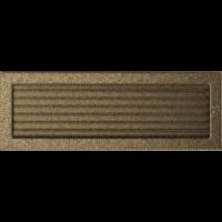 Kratki prostokątne Kratka czarno-złota z żaluzją 17x49