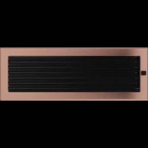 Kratki prostokątne Kratka miedź galwaniczna z żaluzją 17x49
