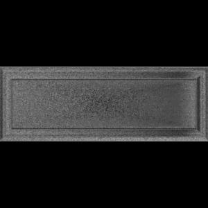 Kratki prostokątne Kratka Oskar czarno-srebrna 17x49