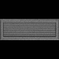 Kratki prostokątne Kratka Oskar czarno-srebrna z żaluzją 17x49