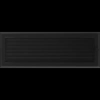 Kratki prostokątne Kratka Oskar czarna z żaluzją 17x49