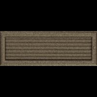 Kratki prostokątne Kratka Oskar czarno-złota z żaluzją 17x49