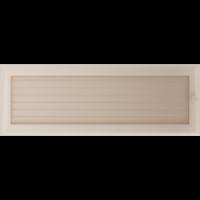 Kratki prostokątne Kratka Oskar kremowa z żaluzją 17x49