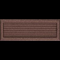 Kratki prostokątne Kratka Oskar miedziana malowana z żaluzją 17x49