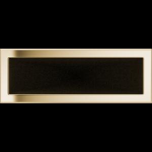 Kratki prostokątne Kratka pozłacana 17x49