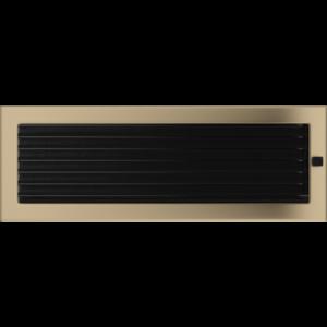 Kratki prostokątne Kratka złoto galwaniczne z żaluzją 17x49
