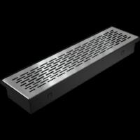 kratki podłogowe Kratka FLOOR szlifowana 9x40