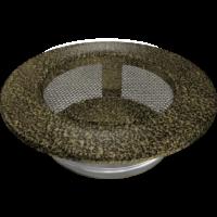 kratki okrągłe Kratka okrągła czarno-złota fi 100