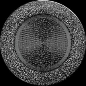 kratki okrągłe Kratka okrągła czarno-srebrna fi 125