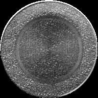 Kratki okrągłe Kratka okrągła czarno-srebrna fi 150