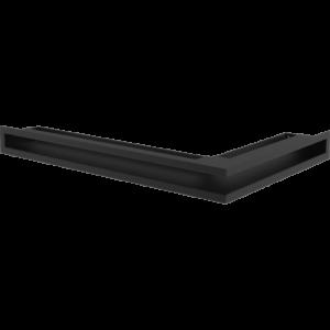 Kratka kominkowa LUFT SF narożny lewy czarny 60x40x6