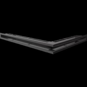 Kratka kominkowa LUFT SF narożny lewy czarny 76,6x54,7x6