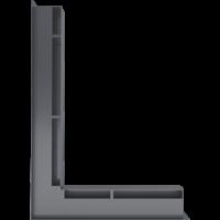 Kratka kominkowa LUFT SF narożny lewy grafitowy 76,6x54,7x6