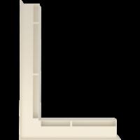 Kratka kominkowa LUFT SF narożny lewy kremowy 76,6x54,7x6