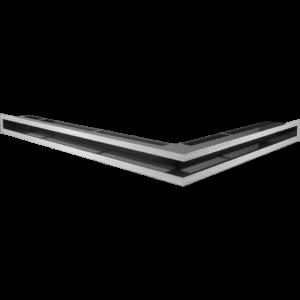 Kratka kominkowa LUFT SF narożny lewy szlif 76,6x54,7x6
