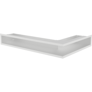 Kratka kominkowa LUFT SF narożny lewy biały 60x40x9