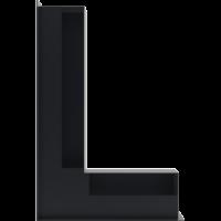 Kratka kominkowa LUFT SF narożny lewy grafitowy 60x40x9