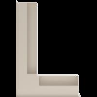 Kratka kominkowa LUFT SF narożny lewy kremowy 60x40x9