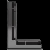 Kratka kominkowa LUFT SF narożny lewy szlif 76,6x54,7x9