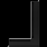 Kratka kominkowa LUFT SF narożny prawy czarny 40x60x6
