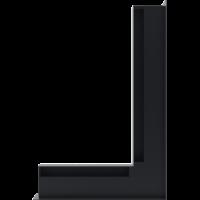 Kratka kominkowa LUFT SF narożny prawy grafitowy 40x60x6