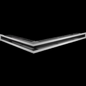 Kratka kominkowa LUFT narożny prawy szlif 54,7x76,6x6