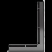 Kratka kominkowa LUFT SF narożny prawy szlif 54,7x76,6x6