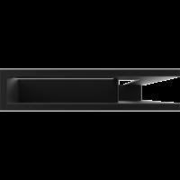 Kratka kominkowa LUFT SF narożny prawy czarny 40x60x9