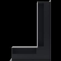 Kratka kominkowa LUFT SF narożny prawy grafitowy 40x60x9