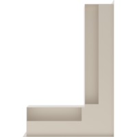 Kratka kominkowa LUFT SF narożny prawy kremowy 40x60x9