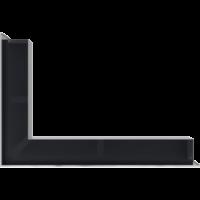 Kratka kominkowa LUFT narożny prawy szlif 40x60x9