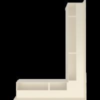 Kratka kominkowa LUFT SF narożny prawy kremowy 54,7x76,6x9