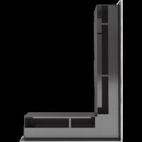 Kratka kominkowa LUFT SF narożny prawy szlif 54,7x76,6x9