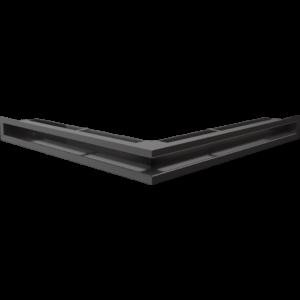 Kratka kominkowa LUFT SF narożny czarny 56x56x6