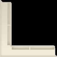 Kratka kominkowa LUFT SF narożny kremowy 56x56x6