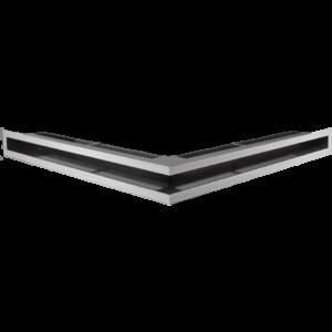 Kratka kominkowa LUFT SF narożny szlif 56x56x6