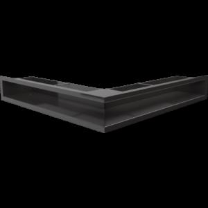Kratka kominkowa LUFT SF narożny czarny 56x56x9