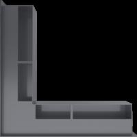 Kratka kominkowa LUFT SF narożny grafitowy 56x56x9