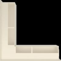 Kratka kominkowa LUFT SF narożny kremowy 56x56x9