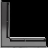 Kratka kominkowa LUFT narożny szlif 56x56x9