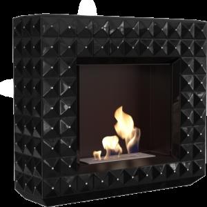 Biokominki portalowe EGZUL czarny z kryształami Swarovski połysk