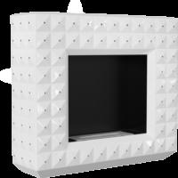 Biokominki portalowe EGZUL biały z kryształami Swarovski połysk